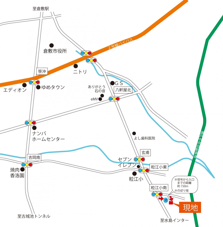 岡山県倉敷市の地図