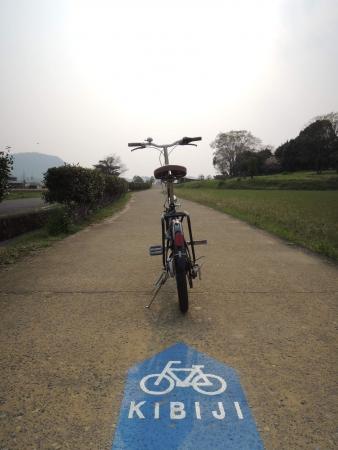 岡山県総社市吉備路のサイクルロード