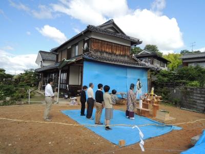 『丘の上の家』地鎮祭