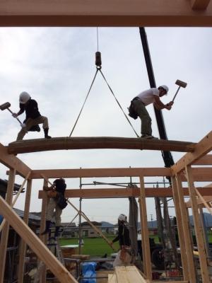 田園に建つ平屋の住宅2