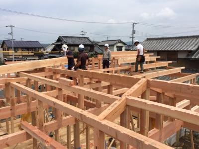 田園に建つ平屋の住宅1