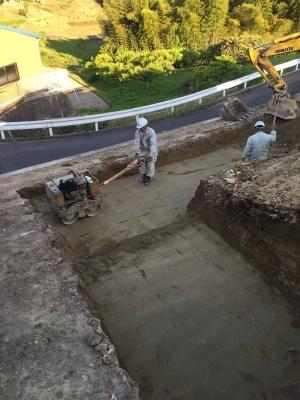 岡山県倉敷市玉島「眺めのいい家」の地盤補強工事