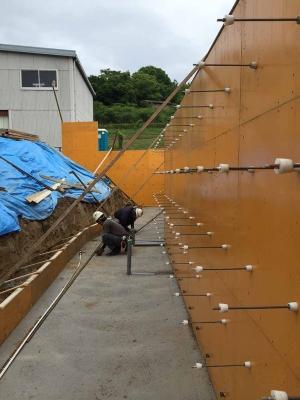 「眺めのいい住宅」基礎工事の模様