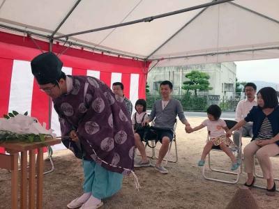 岡山県総社市 原田邸の地鎮祭イベント 開始写真2016/6/20