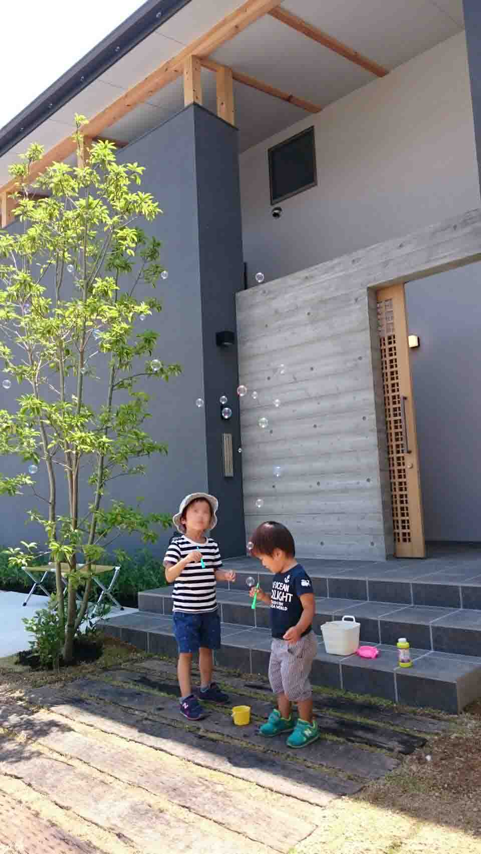 岡山市南区立川町 はぐくむ家の建物完成見学会の様子 その2