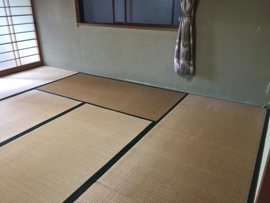 岡山県総社市 リフォーム施工中 畳入替の様子