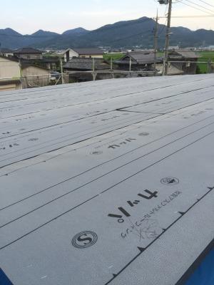 岡山市南区西高崎 レモン畑の家 上棟の様子屋根 その6