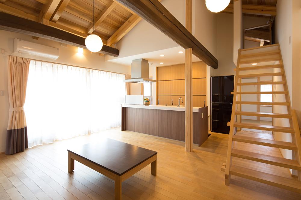 注文住宅 I様の完成写真LDK 2014/4/27