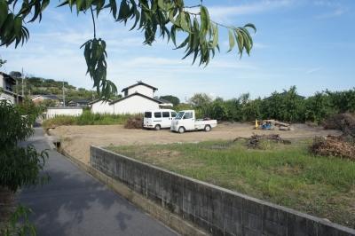 岡山県倉敷市玉島 平屋新築工事 造成前の様子 その2
