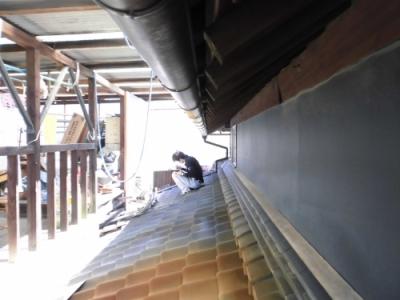 岡山県倉敷市古民家の屋根
