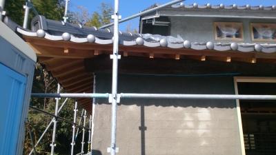 古民家再生 外壁防護シート
