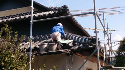 本葺き屋根完了