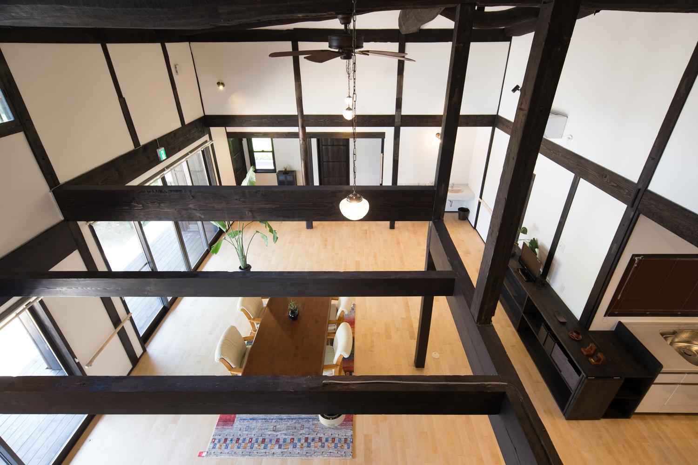 注文住宅 デイサービス完成写真吹抜け2Fから 2014/5/2