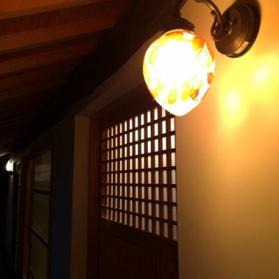 古民家再生のI様邸 玄関照明