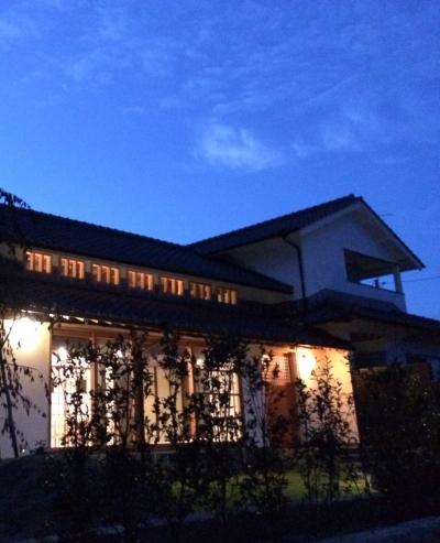 古民家再生のI様邸 夜景