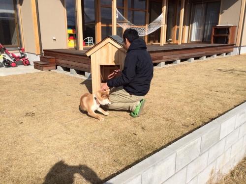 K邸様のお庭とわんちゃん