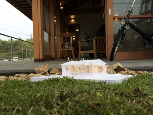 T様邸の設計を立体的に見せる模型