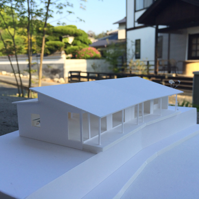 倉敷市玉島 眺めのいい家 完成イメージ 設計模型