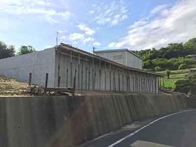 岡山県倉敷市玉島「眺めのいい家」の基礎工事完了