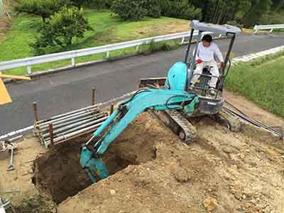岡山県倉敷市玉島「眺めのいい家」の浄化槽工事