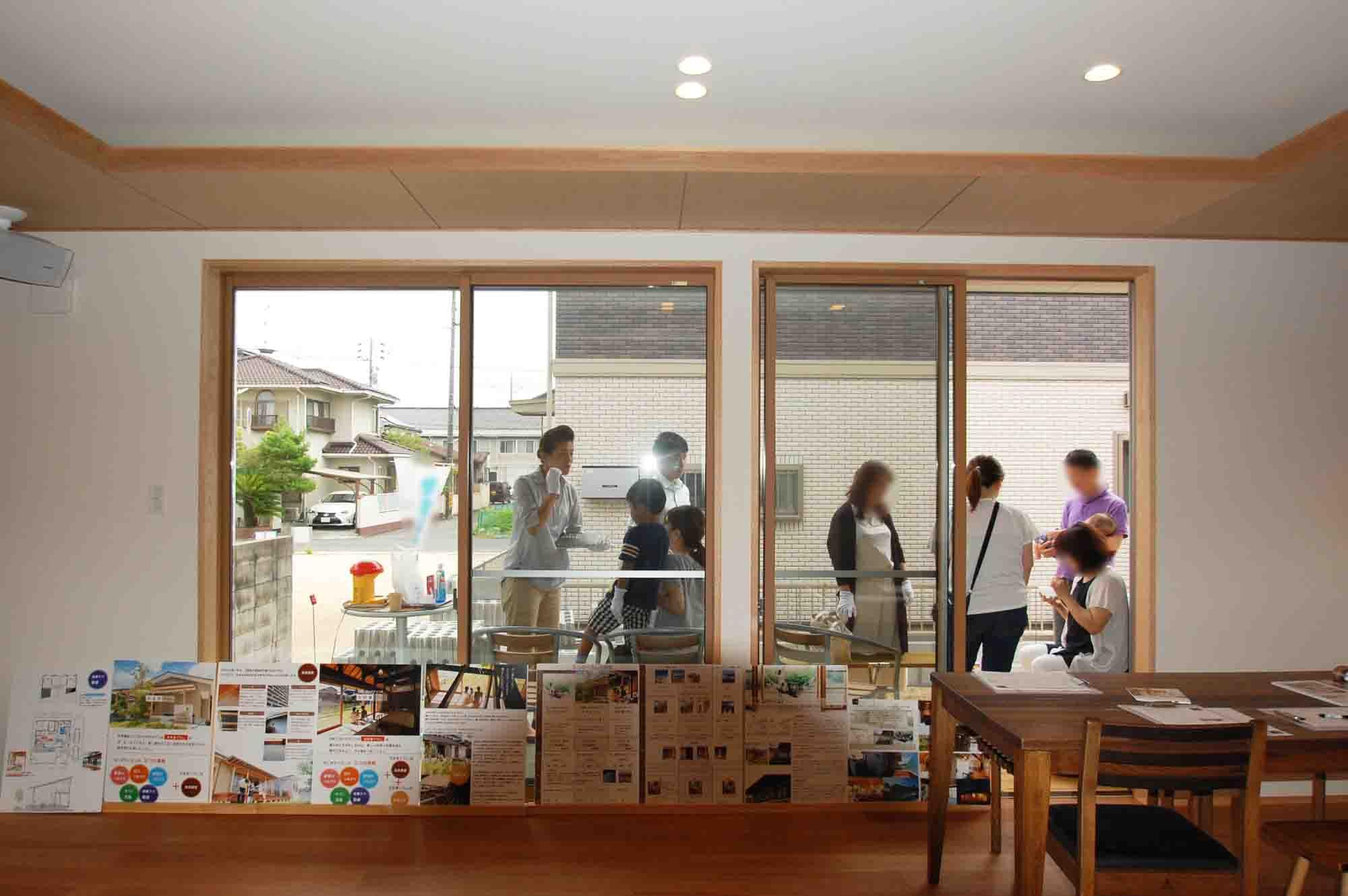 岡山市南区立川町 はぐくむ家の建物完成見学会の様子 その5