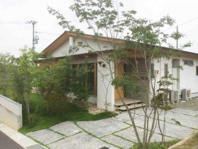 岡山県都窪郡早島町 完成後の住宅 外構写真