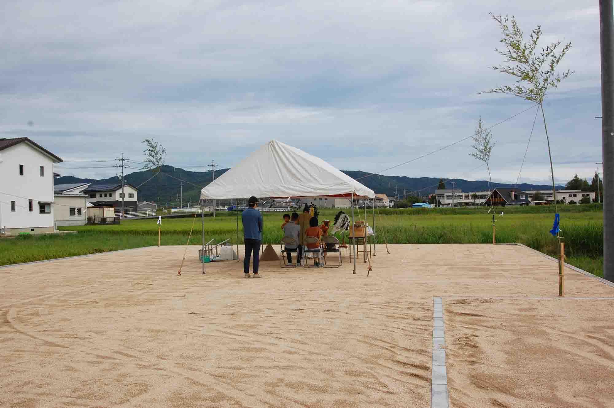 岡山県総社市上林 地鎮祭の様子 その2