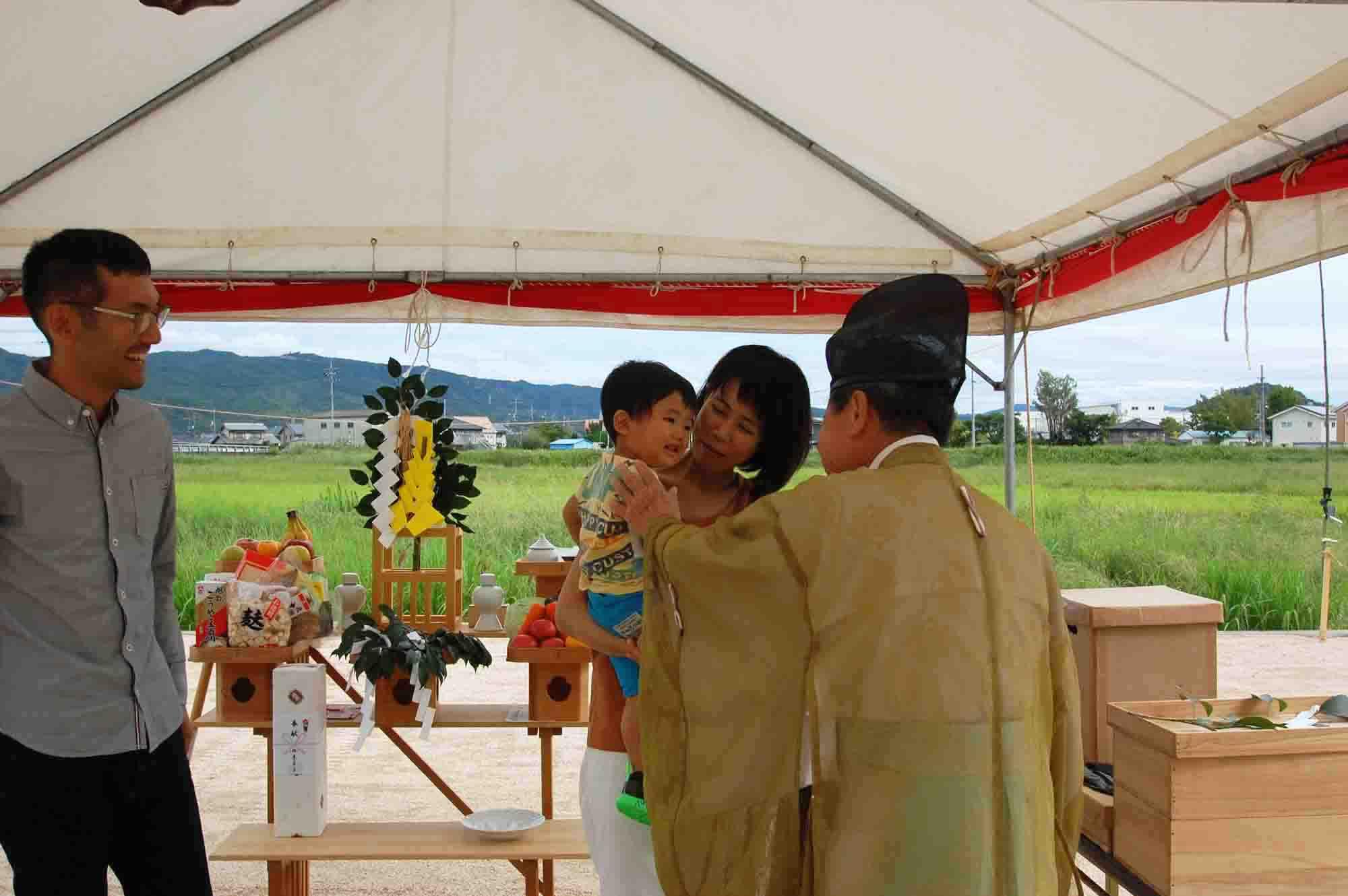 岡山県総社市上林 地鎮祭の様子 その5