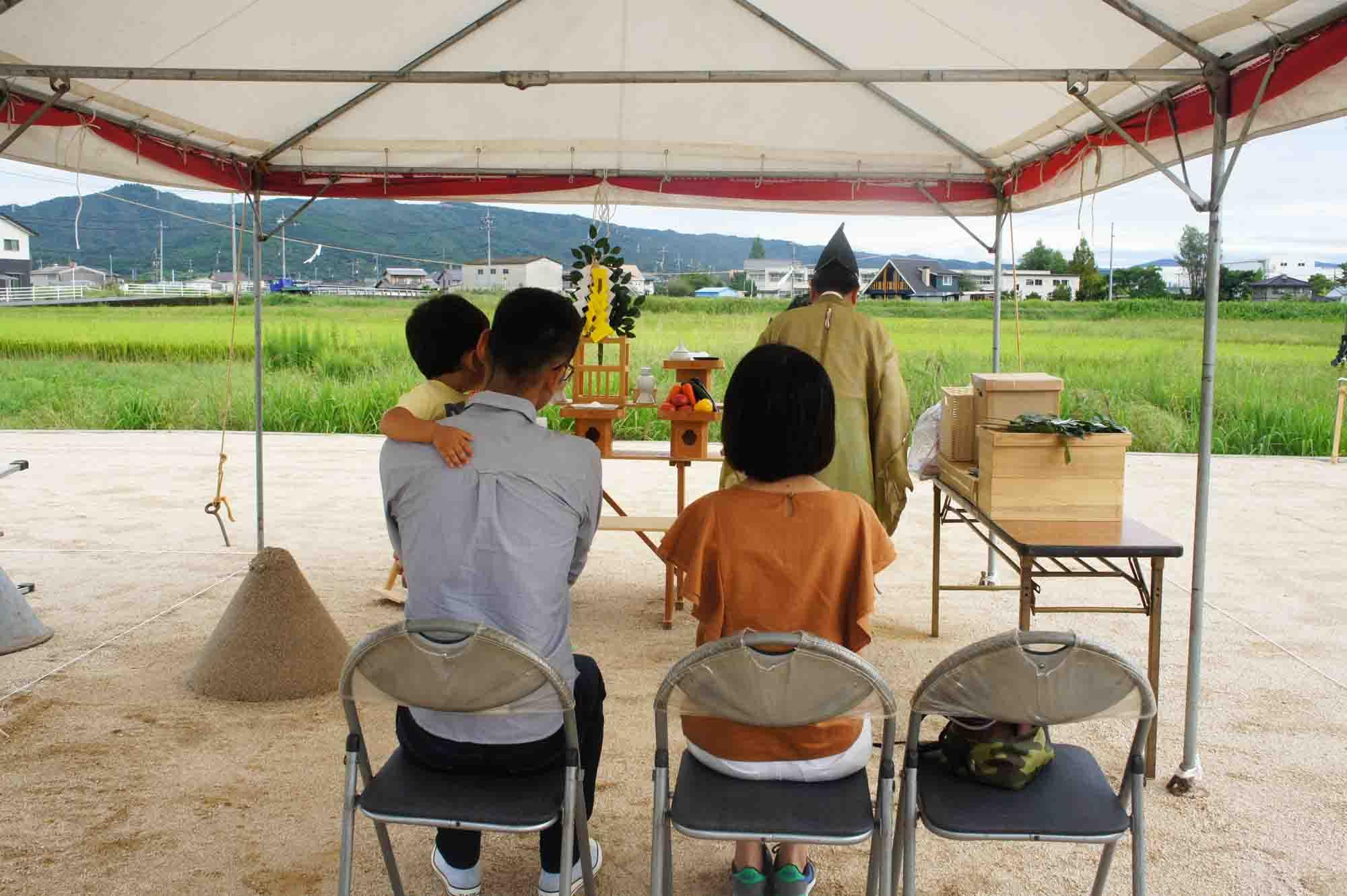 岡山県総社市上林 地鎮祭の様子 その3