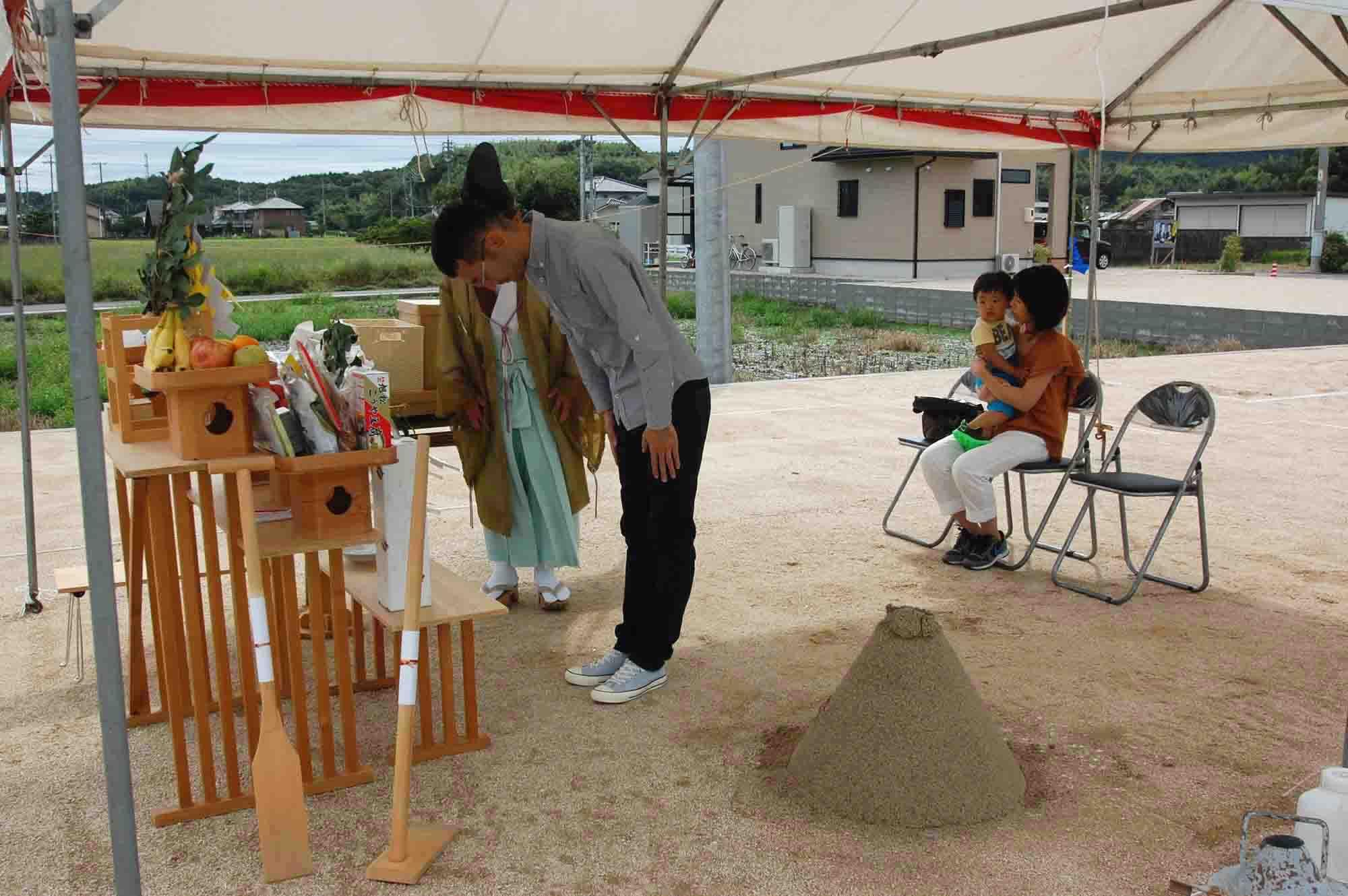 岡山県総社市上林 地鎮祭の様子 その4