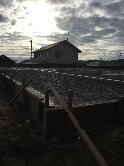 岡山県岡山市東区城東台 基礎工事の様子 その2