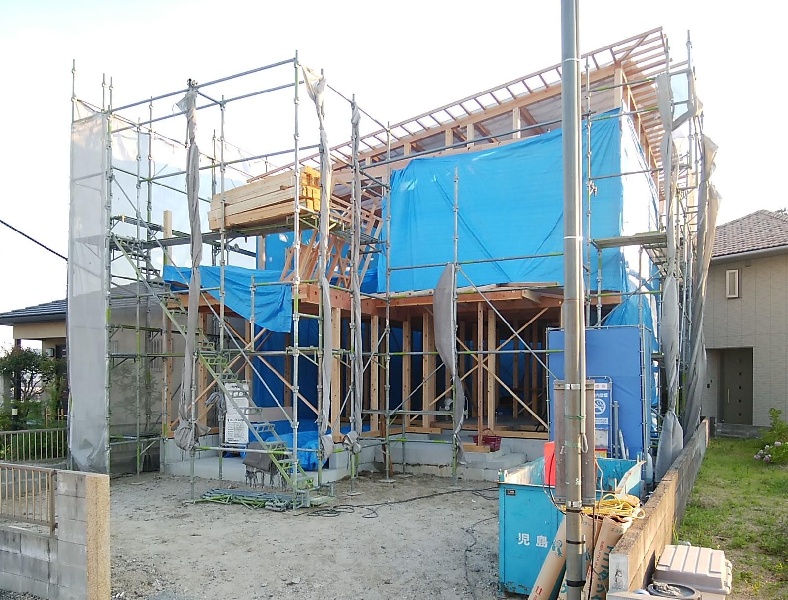 2階建て木造住宅 上棟