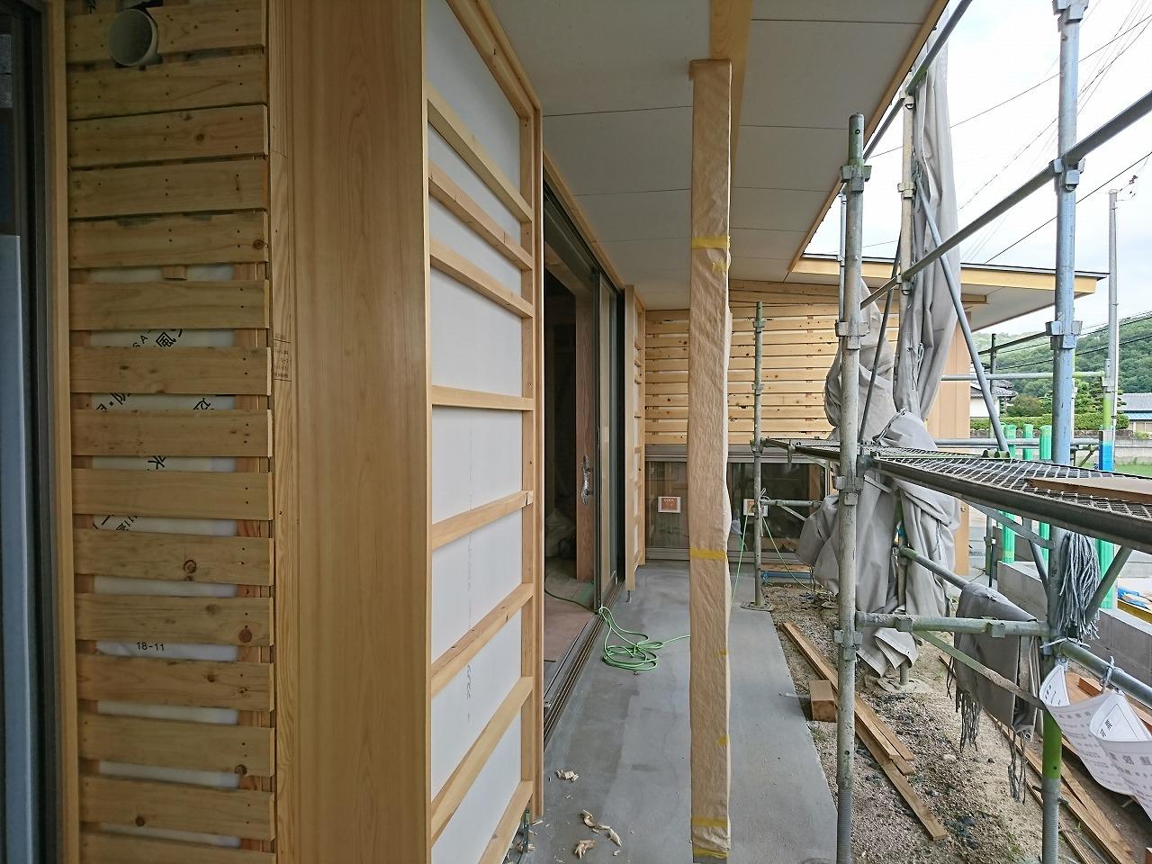 木まま 始まりの家 テラス