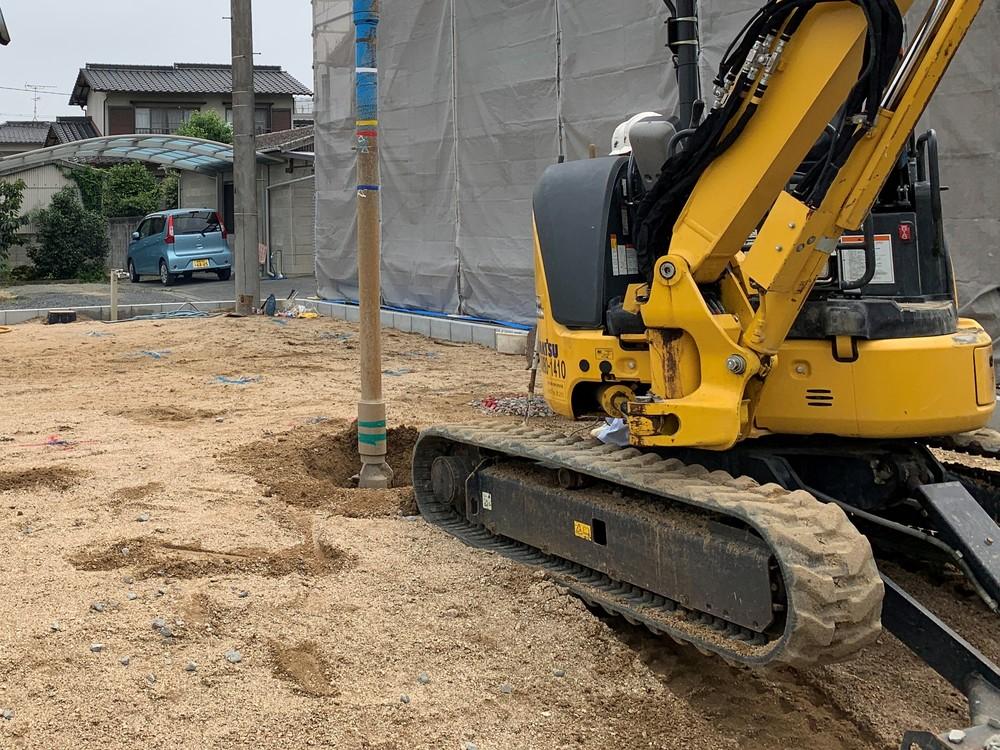木まま 平屋 木づなの家 地盤改良工事