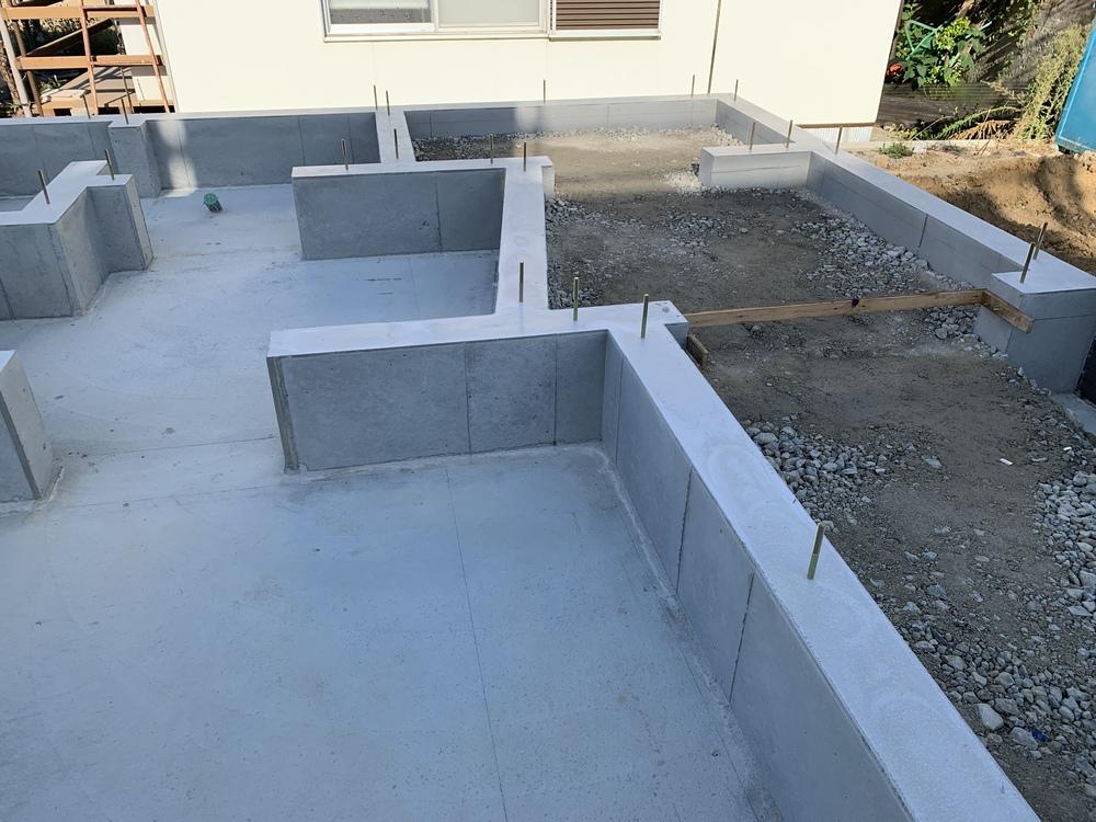 平屋 木まま 新築住宅 基礎工事