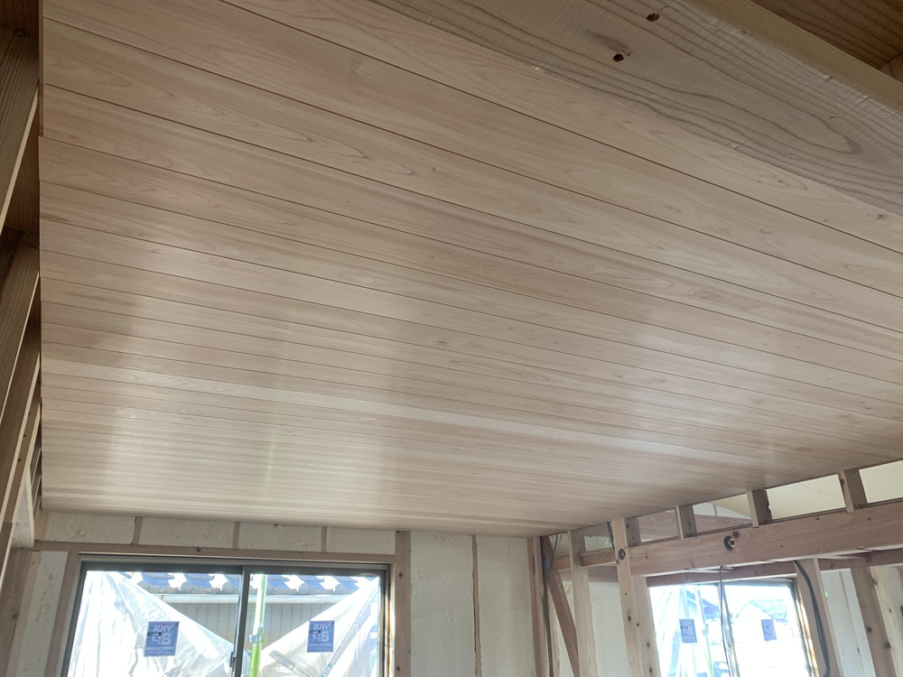 平屋 木まま 新築住宅 木工事
