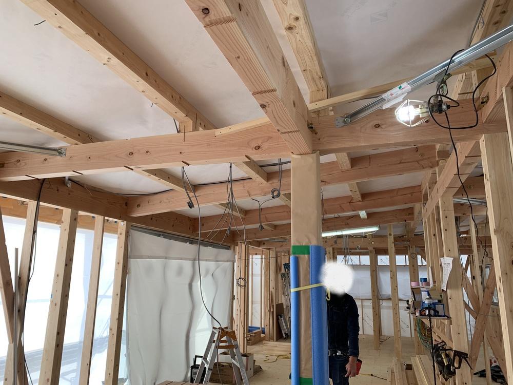 平屋 木まま 新築住宅 電気工事