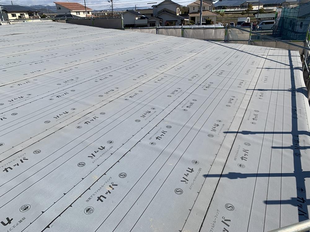 平屋 木まま 新築住宅 木工事 屋根工事