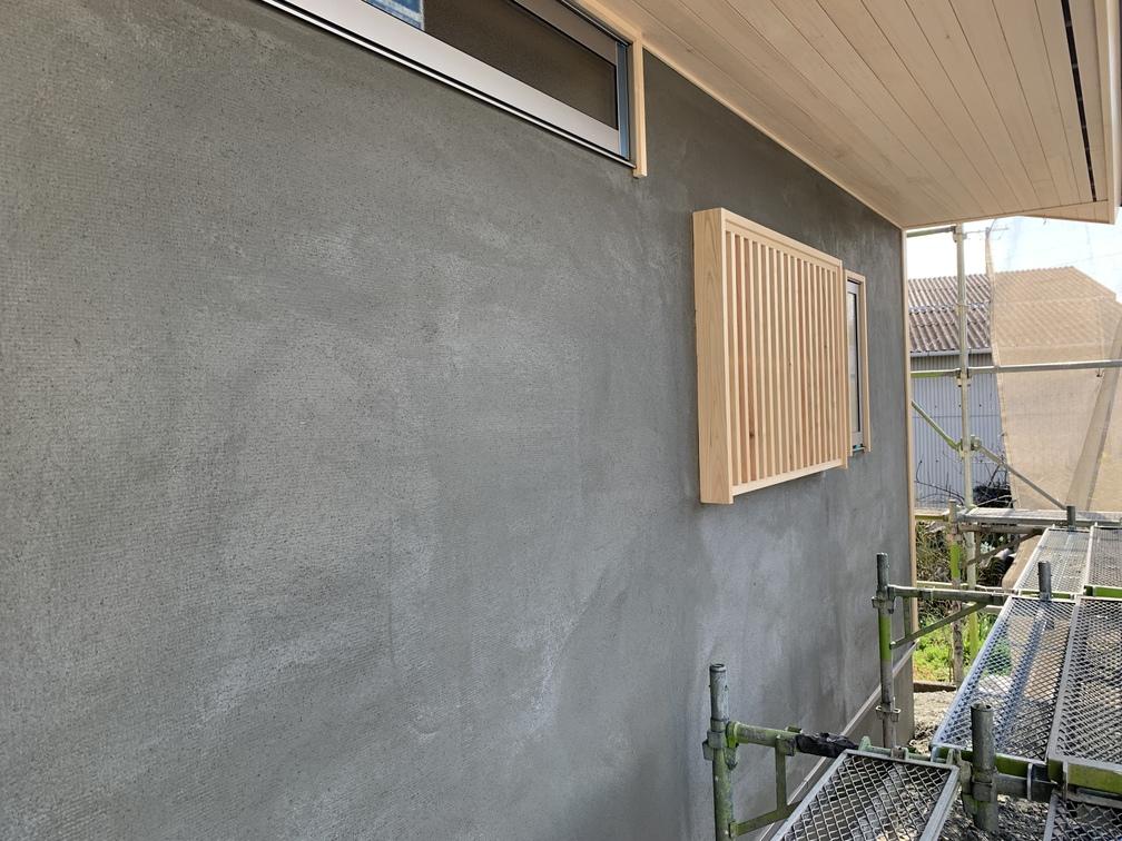 平屋 木まま 新築住宅 外壁 大工工事