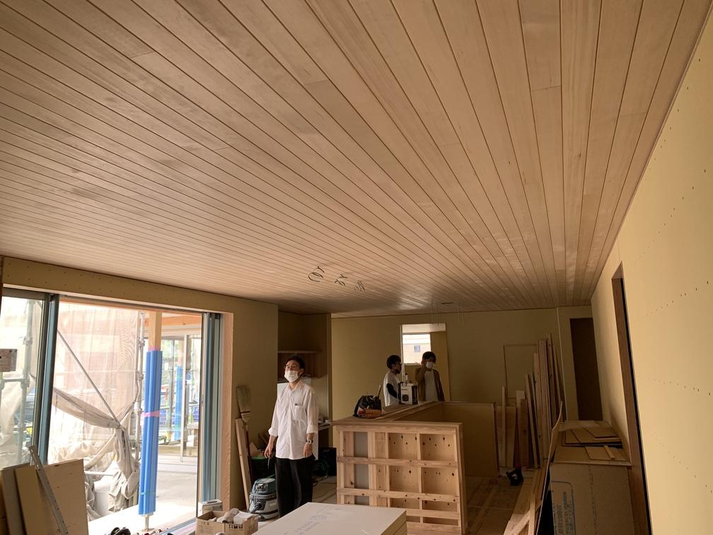 平屋 2階建て 木まま 新築住宅 木工事