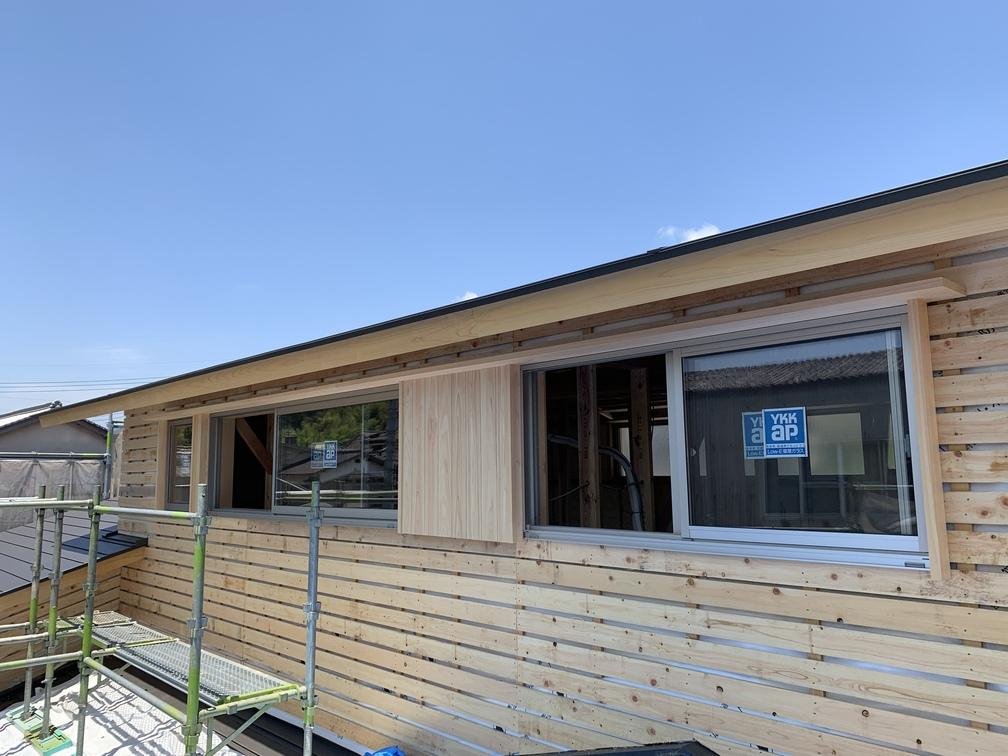 平屋 2階建て 木まま 新築工事 木工事