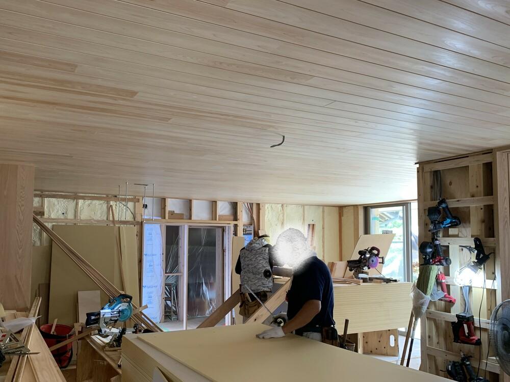 平屋 木まま 新築工事 木工事