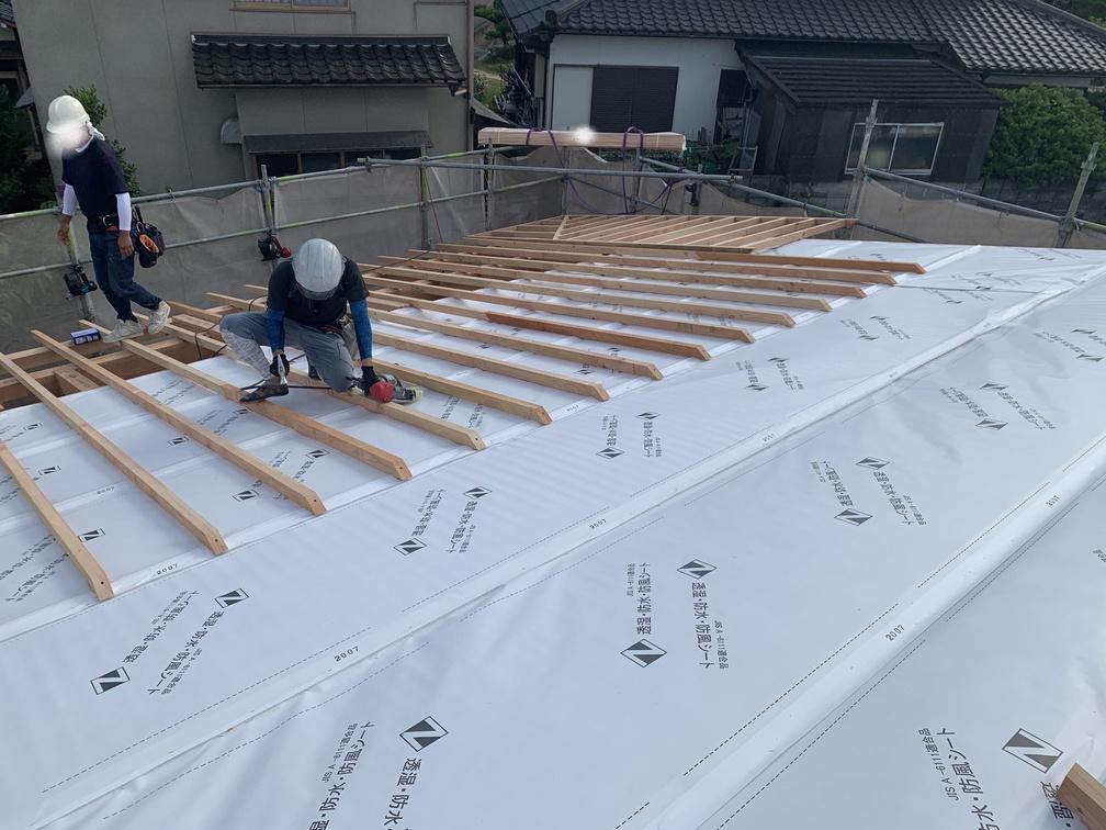 木まま 平屋 木造新築住宅 上棟